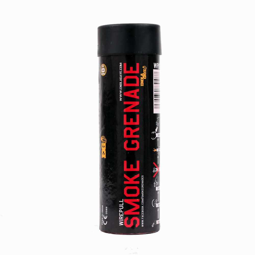 Red Wire Pull™ Smoke Grenade WP40 - Fireworks North West